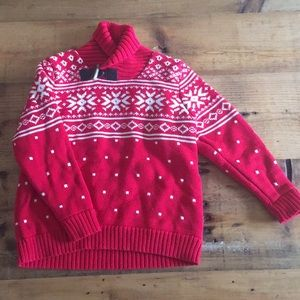 Hanna Andersson Red Cowlneck Sweater